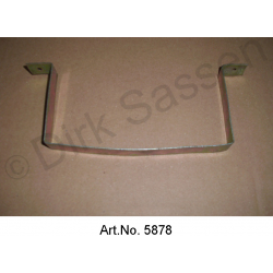 Holder for windscreen wash water tank, for integrated spray water pump, yellow chromated