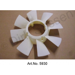 Fan wheel, on water pump, new, vehicle with additional fan