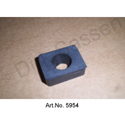 Rubber buffers for fenders, for centering, rectangular shape