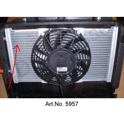 Condenser for air conditioning, including change of connections