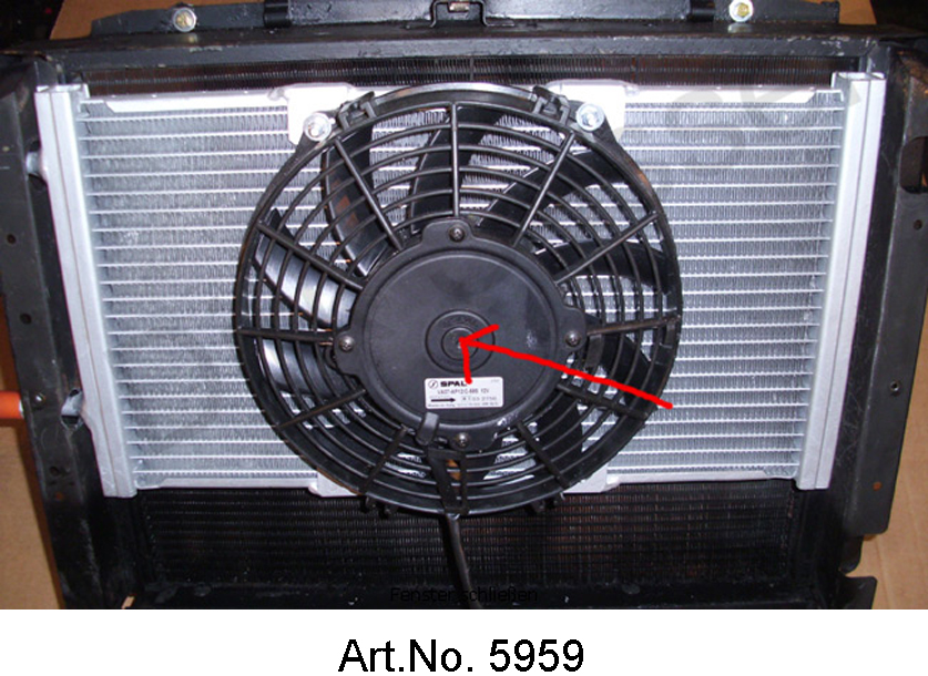 Additional fan for air conditioning, 52 mm