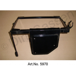 Frame for battery, from 1969, with holder for regulators, mint condition