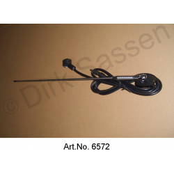 Roof antenna, chrome-plated, reproduction