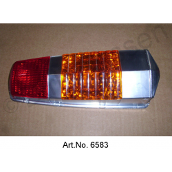 Cap for rear light, Pallas, until 1969, orange brake light, 2nd quality