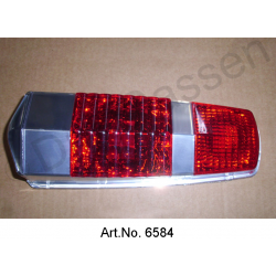Cap for rear light, Pallas, until 1969, red brake light, 2nd quality