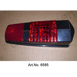 Cap for rear light, black, until 1969, with transparent parking light glass