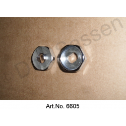 Counter-plate for door handle, inside, chrome-plated, Pallas