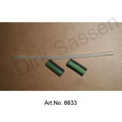 Show tube on hydraulic tank, with 2 rubber grommets, original spare part