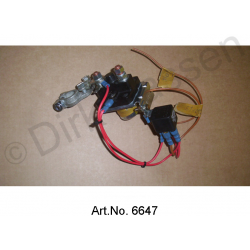 Conversion kit for starter relay, minus controlled (see enclosed installation instructions)