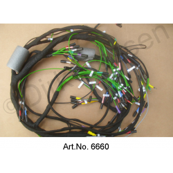 Wiring harness, Alternating current, 09/1969 to 04/1971, Left battery, Round instruments, 8 fuses, export version