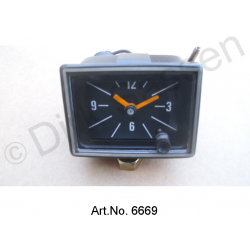 Watch, newly made, from 1969, with black frame, electronic movement