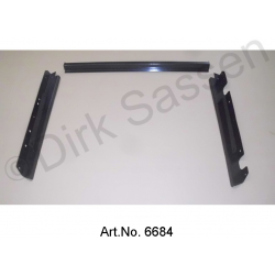 Frame for radiator, between radiator and airbag, for DS 23 and DS 21IE, sand blasted and powder coated