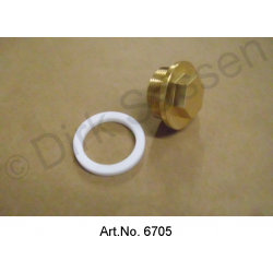 Tank drain plug, with copper gasket, 30 x 1.50 mm