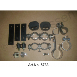 Mounting kit exhaust, complete, stainless steel