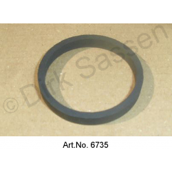 Sealing ring for intake filter on hydraulic reservoir, below