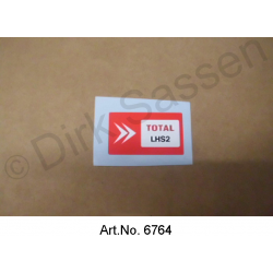 Sticker, 'Total', rood, LHS2