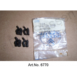 Clamp, for cable bundles, original spare part, 26198099, set of 4 pieces
