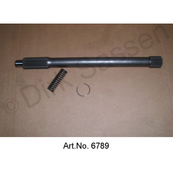 Gear shaft, with spring and ring, 288 mm, 5411402, 5411393P, ZC9620543U