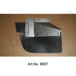 Mudflaps, with stainless steel sheet, Break, rear end, right