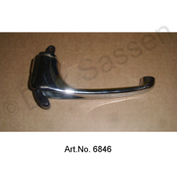 Door handle, inside, chrome-plated, front, right, long lever, black, 90 mm, replacement part