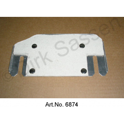 Guard plate for clutch corrector, for IE, with insulation, complete