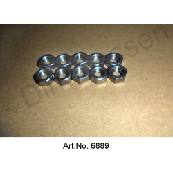 Nut, M7, stainless steel (10 pieces)