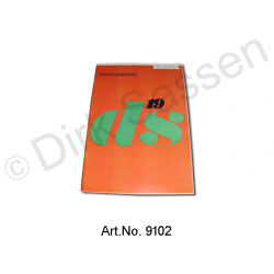 Operating Instructions, DS 19, 09/1966 to 07/1967, semi-automatic, orange cover
