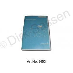 Operating Instructions, DS 20, 10/1968 to 10/1969, trolley with gearshift, blue cover