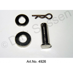 Door bolt, with snap ring and washers, Pallas, nickel plated