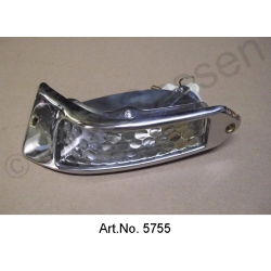 Turn signal, Pallas, white, left, until 1967, with chrome frame, reproduction