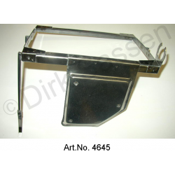 Battery frame, stainless steel, until 1967 and from 1969, with mounting for regulators