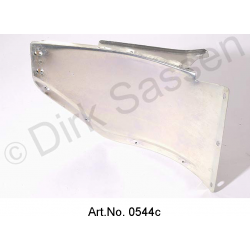 Splash plate for front bumper, left, metal, from 1967