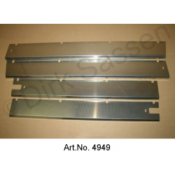 Set of panels on the sill, at the entrance, stainless steel, with original design, 4-piece set