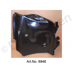 Cover plate, front, right, newly manufactured