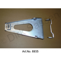 Holder for flame tube, on engine block, stainless steel, from 1965, version flame tube