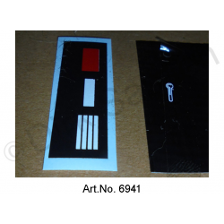 Sticker set, display for water temperature, 2-part
