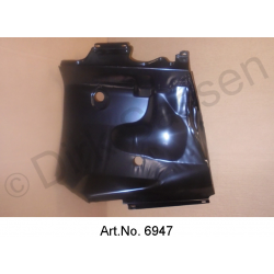 Cover plate, front, left, newly manufactured