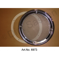 Grill for loudspeakers, silver, parcel shelf in the middle