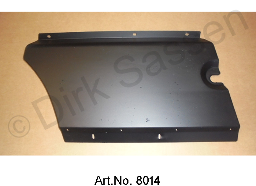 Cover, for carpet cover, Pallas, version IE, under the dashboard, right, used
