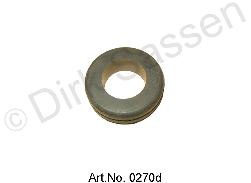 Abrasion protection rubber, suction hose, on the battery frame