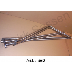 Exhaust pipes, long, stainless steel, until 1963, split version for shipping