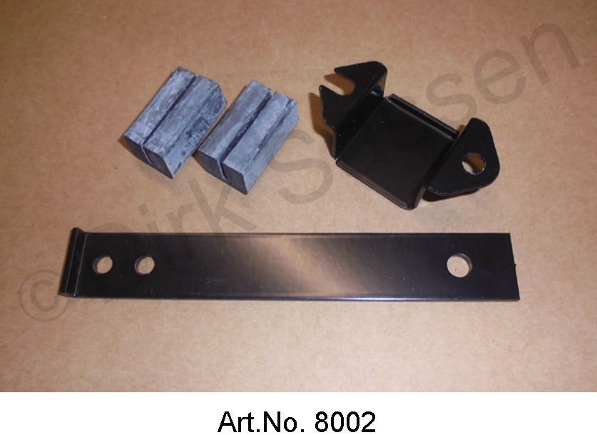 Exhaust bracket for main silencer, metal, with 2 rubber, 1205
