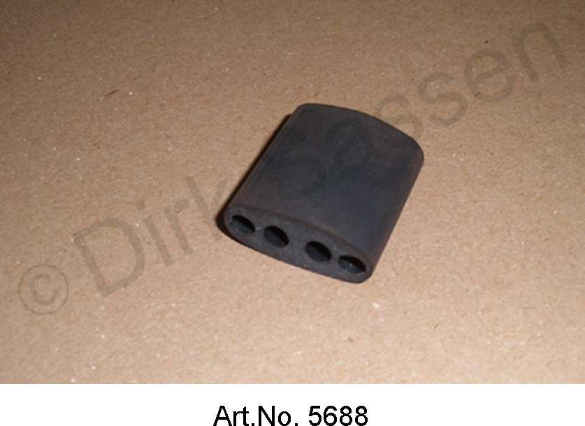 Guide for cable bundle, rubber block, with 4 bushings, for 4.5 mm cable