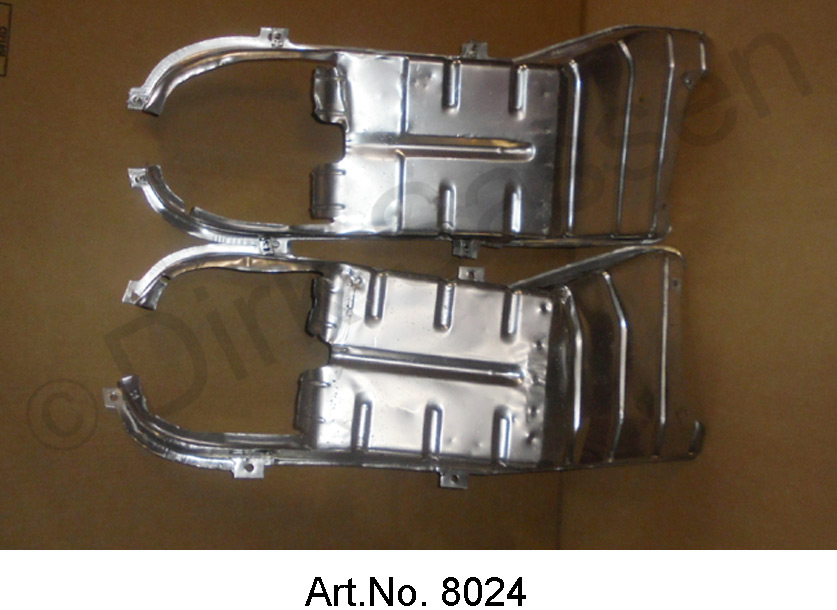 Air baffles for cooling air ducts, used and sandblasted, only available in pairs