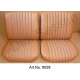Seat covers, front seats and rear seat, Skai, light brown, fully assembled