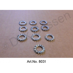 Serrated lock washer, M7, set of 10 pieces