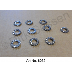 Serrated lock washer, M5, set of 10 pieces