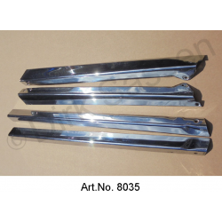 Panels for A- and C-pillar panels, set of 4 pieces, inox, polished, used