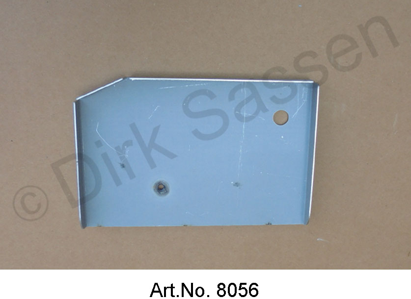 Swing arm mount, repair panel, axle cube, left, vertical, end to the trunk