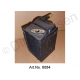 Heating radiator, small, with heating valve flange, used, functional, from 1969
